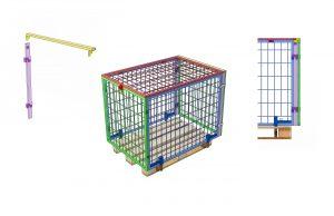 Technische Zeichnung - Verlängerungsstück für die Lagerung von Palettenwachen in einer Palettenwache